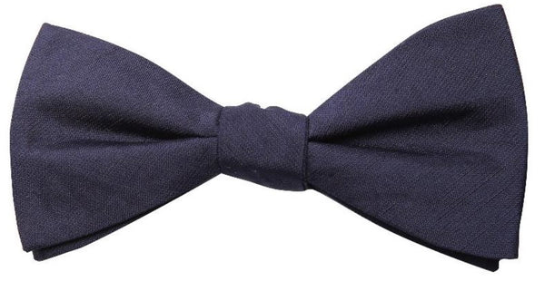 Blue Mulberry Silk/ Wool Bow Tie - DV Clothiers - The Best Custom Mens Suits In Vancouver