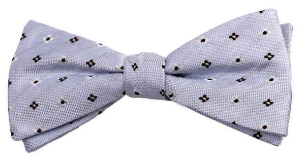 Light Purple Black Square Mulberry Silk Bow Tie - DV Clothiers - The Best Custom Mens Suits In Vancouver
