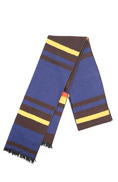 Brown & Blue Mulberry Silk Scarf - DV Clothiers - The Best Custom Mens Suits In Vancouver