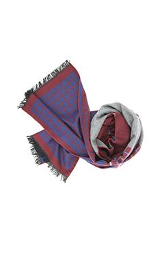Red, Blue & Grey Mulberry Silk Scarf - DV Clothiers - The Best Custom Mens Suits In Vancouver
