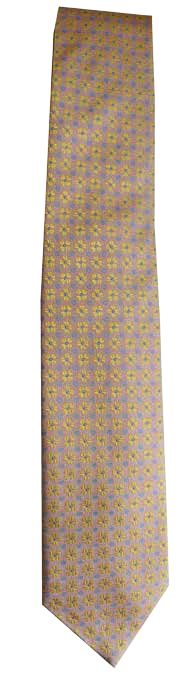 Italian silk ties hand sewn in Italy - Light Multi Pattern