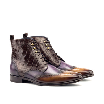 Custom Designed Patina Military Boot