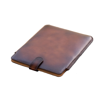 Painted Calf Burnished Cognac Ipad Case