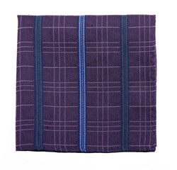2020 Purple Check Pocket Square