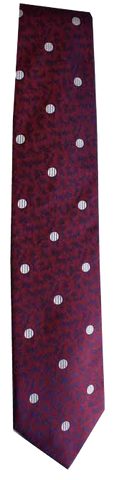 Italian silk ties hand sewn in Italy - Magenta Blue Dot