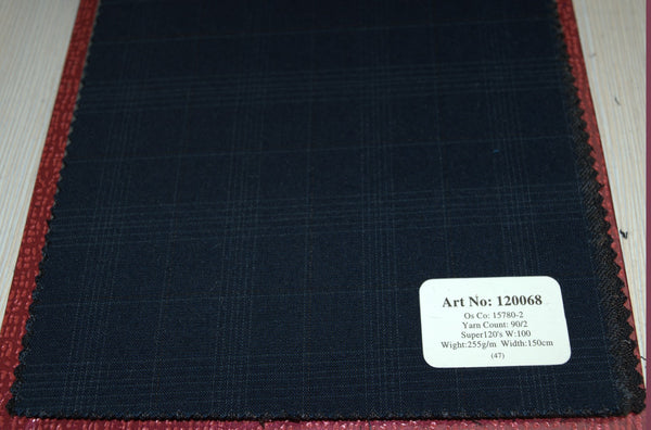 signature-100-wool-super-120s-255-gs-m-check-blue-120067 - DV Clothiers - The Best Custom Mens Suits In Vancouver