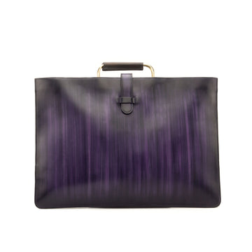 Patina Heavy Purple & Brown Satchel
