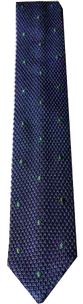 Italian Made - Hand-Sewn- Knit Tricot Tie  - Purple Green Dot
