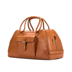 Cognac Painted Calf Travel Duffle
