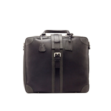 Painted Full Grain Black & Grey Travel Tote