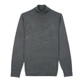 Grey Turtle Neck Merino Wool Sweater