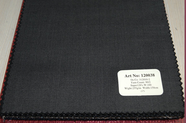 signature-100-wool-super-120s-255-gs-m-plain-grey-120038 - DV Clothiers - The Best Custom Mens Suits In Vancouver