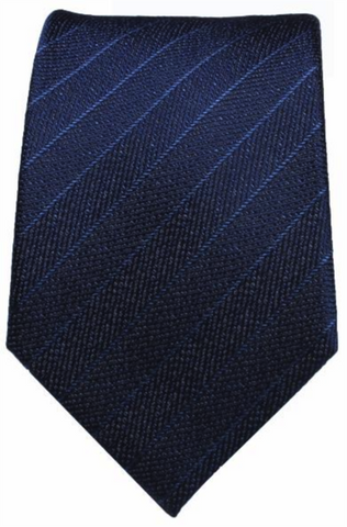 Blue Textured / Stripe Mulberry Silk Tie - DV Clothiers - The Best Custom Mens Suits In Vancouver