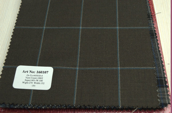 signature-100-wool-super-140s-270-gs-m-check-brown-160107 - DV Clothiers - The Best Custom Mens Suits In Vancouver