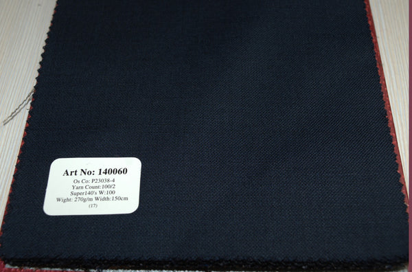 signature-100-wool-super-140s-270-gs-m-plain-blue-140060 - DV Clothiers - The Best Custom Mens Suits In Vancouver