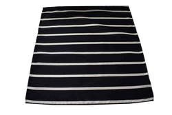 Italian Hand Sewn Pocket Square - Black & White Stripe
