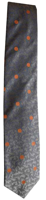 Italian silk ties hand sewn in Italy - Grey & Orange Dot