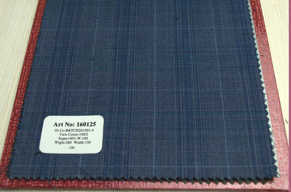 signature-100-wool-super-140s-260-gs-m-check-blue-160125 - DV Clothiers - The Best Custom Mens Suits In Vancouver