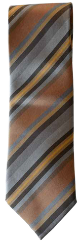 Italian silk ties hand sewn in Italy - Multi Brown Stripe