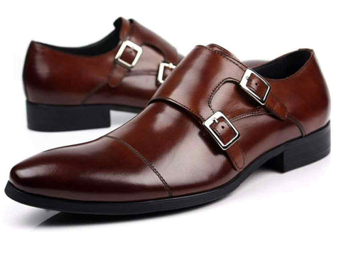 Rich Brown Double Monkstraps - DV Clothiers - The Best Custom Mens Suits In Vancouver