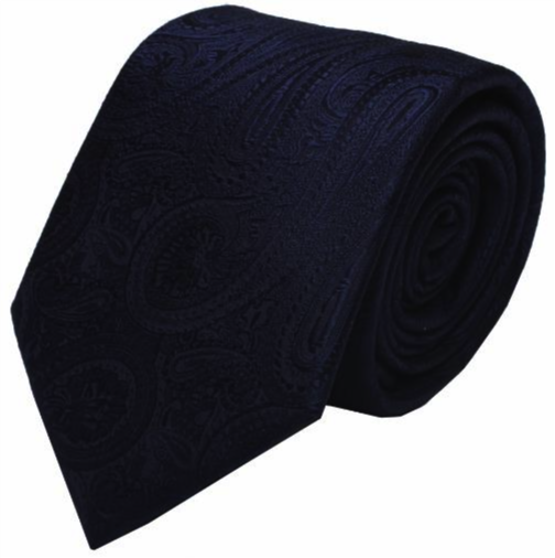 Blue Paisley Mulberry Silk Tie - DV Clothiers - The Best Custom Mens Suits In Vancouver