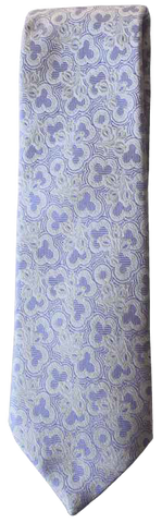Italian silk ties hand sewn in Italy - Lavender Multi Pattern