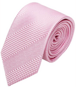 Pink Textured / Stripe Mulberry Silk Tie - DV Clothiers - The Best Custom Mens Suits In Vancouver