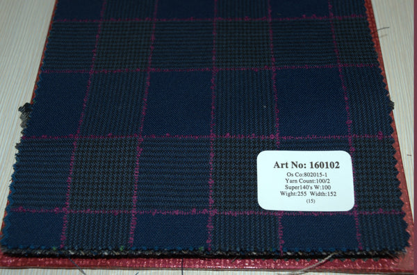 signature-100-wool-super-140s-255-gs-m-check-blue-purple-160102 - DV Clothiers - The Best Custom Mens Suits In Vancouver