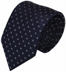 Blue Dot Mulberry Silk Tie - DV Clothiers - The Best Custom Mens Suits In Vancouver