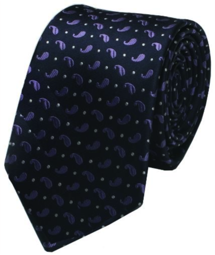 Purple Botey Paisley Mulberry Silk Tie - DV Clothiers - The Best Custom Mens Suits In Vancouver