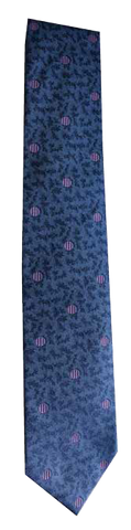Italian silk ties hand sewn in Italy - Blue Purple Dot