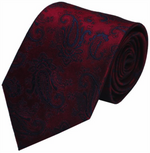 Red Paisley Mulberry Silk Tie - DV Clothiers - The Best Custom Mens Suits In Vancouver