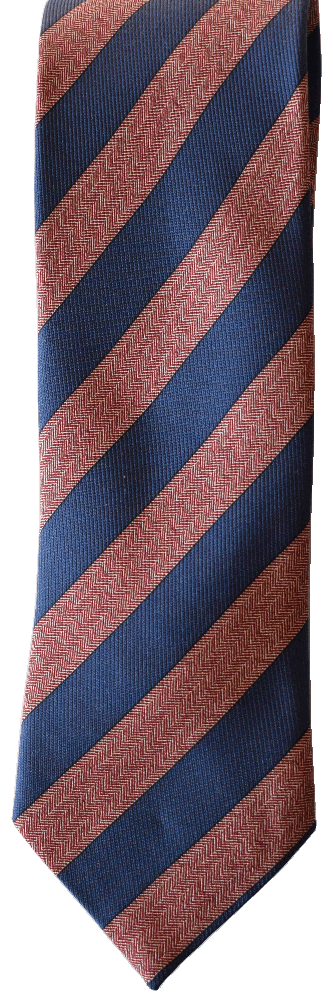 Italian silk ties hand sewn in Italy - Blue & Red Stripe