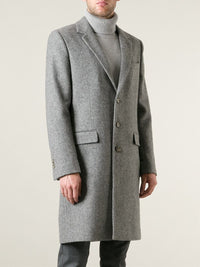 Grey Single Breasted Overcoat - DV Clothiers - The Best Custom Mens Suits In Vancouver