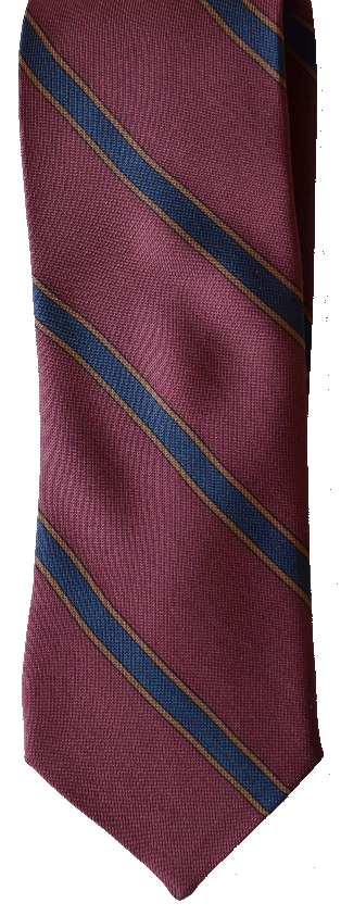 Italian silk ties hand sewn in Italy - Burgundy & Blue