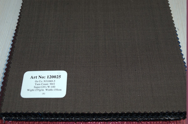 signature-100-wool-super-120s-275-gs-m-plain-brown-120025 - DV Clothiers - The Best Custom Mens Suits In Vancouver