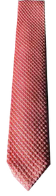 Italian Made - Hand Sewn - Knit Tricot Tie  - Pink Texture