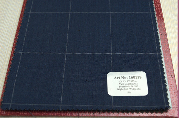 signature-100-wool-super-140s-260-gs-m-check-grey-160118 - DV Clothiers - The Best Custom Mens Suits In Vancouver