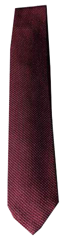 Italian Made - Hand Sewn - Knit Tricot Tie  - Red Texture