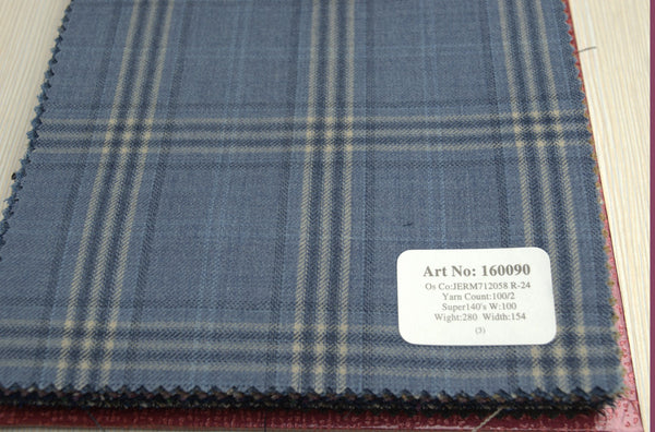 signature-100-wool-super-140s-280-gs-m-check-blue-160090 - DV Clothiers - The Best Custom Mens Suits In Vancouver