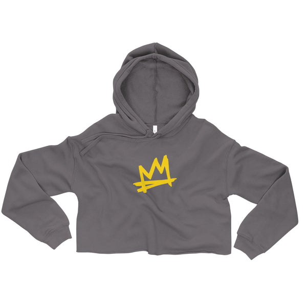 """Crown Me"" Women's Crop Hoodie"