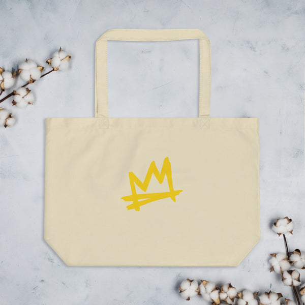 """ Crown Me"" Large organic tote bag"