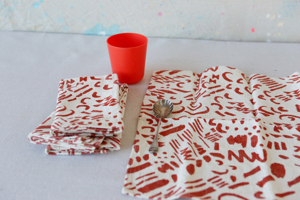 Red-is-Best Table Linens
