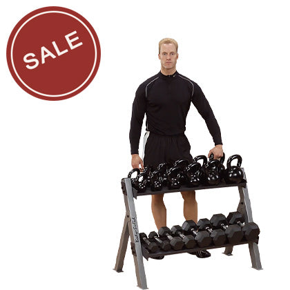Body-Solid GDKR100 Dumbell & Kettlebell Rack