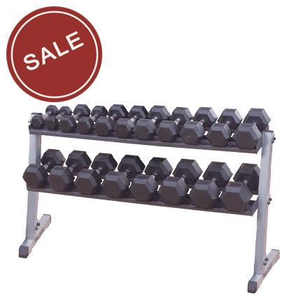 Body-Solid Horizontal Dumbbell Rack-Long 60""