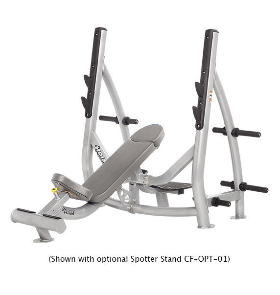 Hoist Freeweight CF-3172 Incline Olympic Bench With Storage - Commercial Line - Hoist eepdx