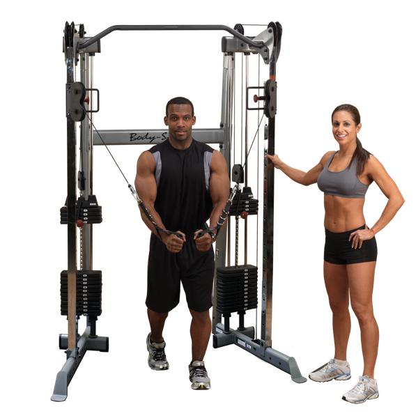 Body-Solid GDCC210 Compact Functional Training Center - Functional Trainers - Body-Solid eepdx
