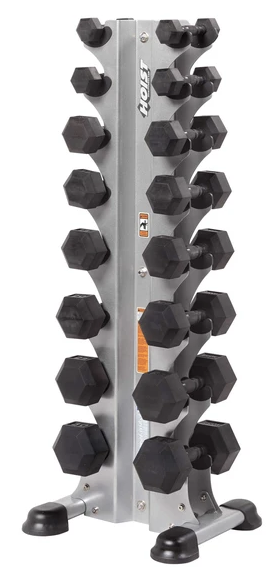 HF-5460 8 Pair Vertical Hex Dumbbell Rack