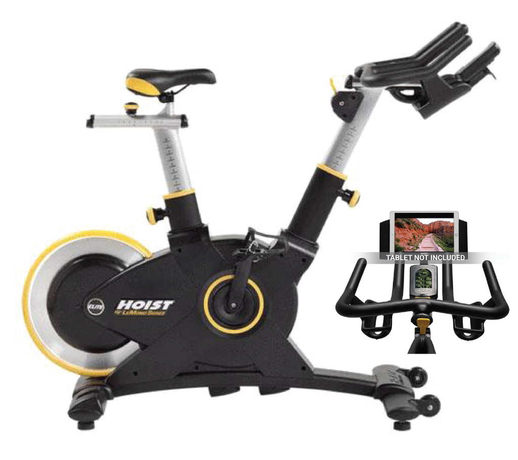 "<center><p style=""color: #ffffff; background-color: #A2231F"">Free LeMond App to track and compare your workouts. Magnet Resistance</p></center><br>Hoist Lemond Elite Cycle Bike"