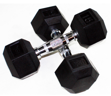 Troy Rubber Head Dumbbells 6 Sided - Dumbbells - Troy eepdx
